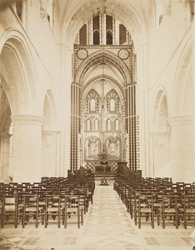 Interior Of The Church Of St. Cross Looking East